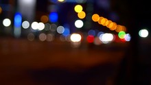 Unfocused Shot Of A Busy Stree...