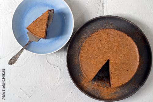 Foto op Plexiglas cake on plate