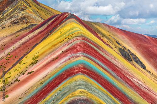 Poster Cusco Region, Peru. Rainbow Mountain (Montana de Siete Colores).