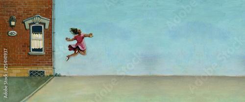 Obraz na plátně free in the sky surreal illustration for banner
