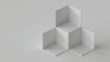 White Cube Boxes Backdrop Disp...