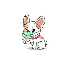 Vector Cartoon Cute Dog Wearin...