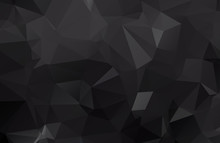 Dark Black Polygonal Illustrat...