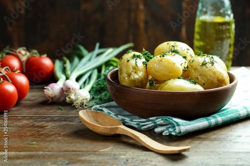 Obraz na płótnie potatoes and vegetables dinner