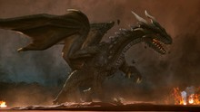 A Big Angry Dragon In The Dese...