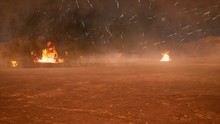 The Battlefield In The Smoke I...
