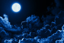 Mystical Bright Full Moon In T...