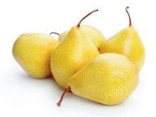 Ripe Pears Isolated On White Background