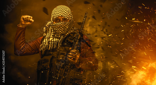 Fotomural rebel militant terrorist guerrilla concept