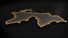 3D Animated Map Of Tajikistan