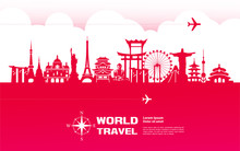 Travel Around The World Vector Illustration.