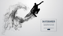 Abstract Silhouette Of A Skate...