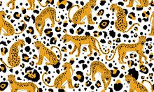 Leopard Seamless Pattern. Comp...