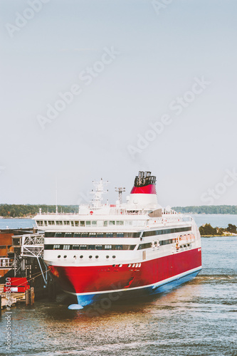 Fotografía  Large Cruise ship passenger transportation scandinavian vacations outdoor