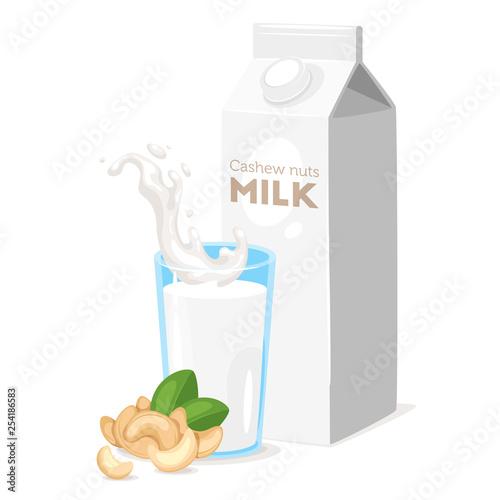 Fotografie, Obraz  milk icon on white background