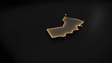 3D Animated Map Of Oman