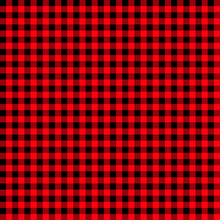 Firebrick Gingham Pattern. Textured Red And Black Plaid Background. Light Red And Black Buffalo Check Flannel Plaid Seamless Pattern. Retro Tablecloth Texture. Red Gingham.