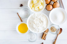 Ingredients For Baking Gingerbread Or Cake