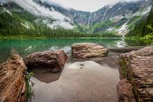 Rocks At The Edge Of Avalanche Lake