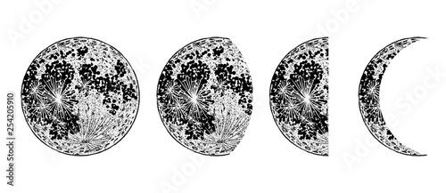 Obraz na płótnie Moon phases