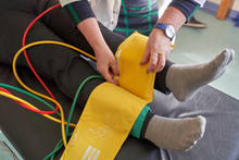 Peripheral Artery Disease Measuring For Patient Ankle Brachial Index (ABI) Test