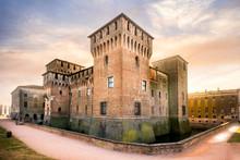MANTUA: Medieval Fortress, Gonzaga Saint George (Giorgio) Castle In Italy, Mantua (Mantova)