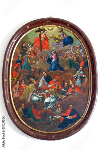 Fotografia, Obraz All Saints altarpiece in the Parish Church of Assumption of the Virgin Mary in P