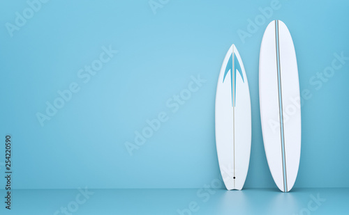 Fotografia  Surfboards 3d illustration