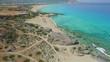 Beautiful Mediterranean beaches aerial view