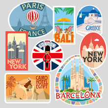 Travel Stickers. Various World...