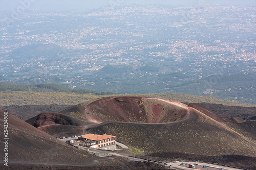 Fényképezés  Etna volcano craters in Sicily