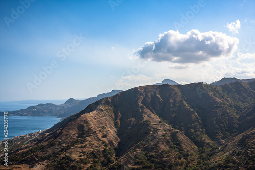 Photo The volcanic landscape. Sicily