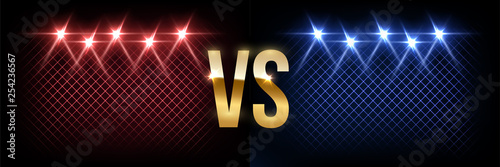 Fototapeta Battle vector banner concept