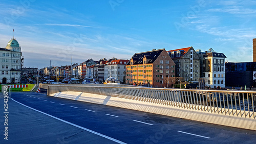 Photo  Pedestrian bridge to Christianshavn in Copenhagen, Denmark