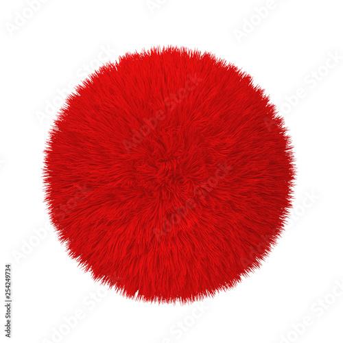 Abstract fluffy ball Wall mural