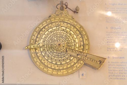 brass compass SUN DIAL SOLAR time astrology navigation marine maritime Wallpaper Mural