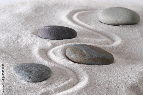 Photo sur Plexiglas Zen pierres a sable Mindful path