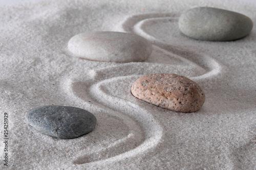 Photo sur Aluminium Zen pierres a sable Mindful path