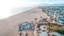 Venice Beach Aerial Los Angeles