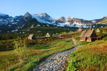 Spring in the Tatra Mountains (Gasienicowa Valley), Poland