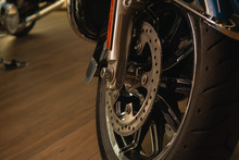 Front Fork Of A Motorcycle Wit...