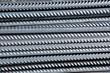 Reinforcements steel bars close up. Construction rebar steel.