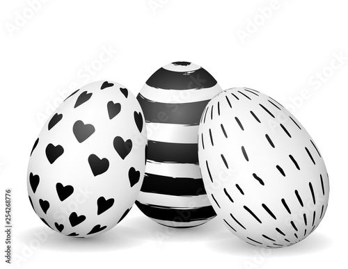 Easter eggs isolated on whi...