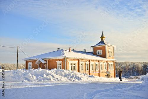 Fotografie, Obraz  Russian winter in monastery