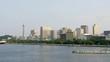 Static wide shot of the Yokohama city downtown - Japan.