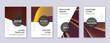Modern brochure design template set. Gold abstract