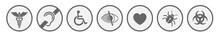 Monochrome Medical Symbols