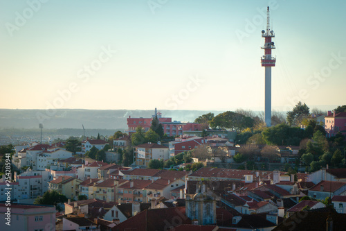 Photo sur Toile Europe Centrale Landscape old town of Abrantes, Portugal VII