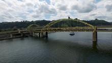 Aerial Of River Passenger Boat...