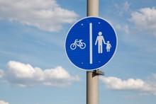 Bicycle Lane On The Sidewalk